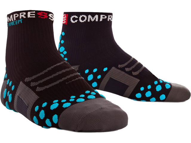Compressport ProRacing Run Calcetines de corte alto, black/blue